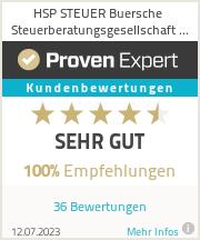 Erfahrungen & Bewertungen zu HSP STEUER Buersche Steuerberatungsgesellschaft mbH