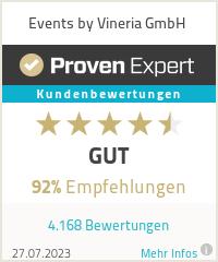 Erfahrungen & Bewertungen zu Events by Vineria GmbH