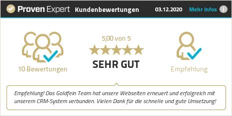 Kundenbewertungen & Erfahrungen zu Goldfein Webdesign. Mehr Infos anzeigen.