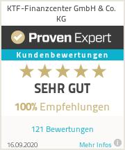 Erfahrungen & Bewertungen zu KTF-Finanzcenter GmbH & Co. KG
