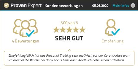 Erfahrungen & Bewertungen zu Body Focus GmbH anzeigen