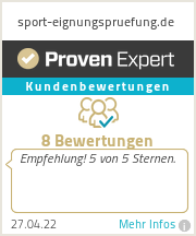 Erfahrungen & Bewertungen zu sport-eignungspruefung.de