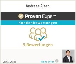 Erfahrungen & Bewertungen zu Andreas Alsen