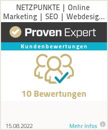 Erfahrungen & Bewertungen zu NETZPUNKTE | Online Marketing | SEO | Webdesign Agentur