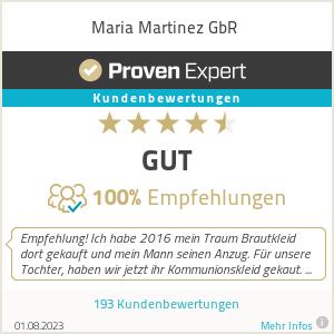 Erfahrungen & Bewertungen zu Maria Martinez GbR