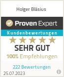Erfahrungen & Bewertungen zu Holger Bläsius