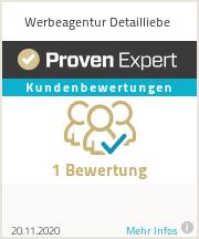 Erfahrungen & Bewertungen zu Werbeagentur Detailliebe