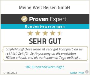 Erfahrungen & Bewertungen zu Meine Welt Reisen GmbH