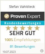 Erfahrungen & Bewertungen zu Stefan Vahldieck