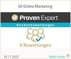 Erfahrungen & Bewertungen zu SO Online Marketing