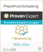Erfahrungen & Bewertungen zu PhysioPraxisSchwabing