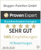 Erfahrungen & Bewertungen zu Wupper-Paletten GmbH