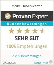 Erfahrungen & Bewertungen zu Meike Hohenwarter