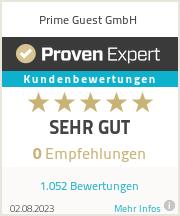 Erfahrungen & Bewertungen zu Prime Guest GmbH