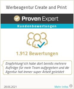 Erfahrungen & Bewertungen zu Werbeagentur Create and Print