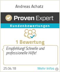 Erfahrungen & Bewertungen zu Andreas Achatz