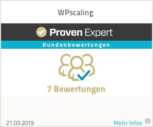 Erfahrungen & Bewertungen zu WPscaling