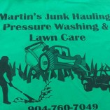 Martins Junk Hauling Pressure Washing and lawn care