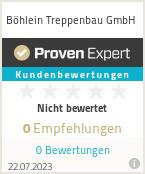 Erfahrungen & Bewertungen zu Böhlein Treppenbau GmbH