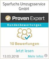 Erfahrungen & Bewertungen zu Sparfuchs Umzüge GmbH & Co. KG