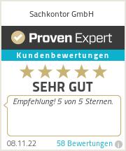 Erfahrungen & Bewertungen zu Sachkontor GmbH