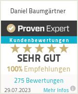 Erfahrungen & Bewertungen zu Daniel Baumgärtner