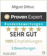Erfahrungen & Bewertungen zu Miguel Dittus