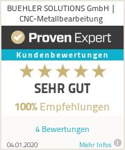 Erfahrungen & Bewertungen zu BUEHLER SOLUTIONS GmbH | CNC-Metallbearbeitung