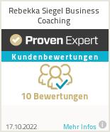 Erfahrungen & Bewertungen zu Rebekka Siegel Business Coaching