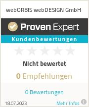 Erfahrungen & Bewertungen zu webORBIS webDESIGN GmbH