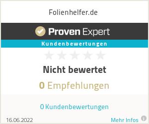 Erfahrungen & Bewertungen zu Folienhelfer.de