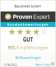 Erfahrungen & Bewertungen zu Baudirekt GmbH