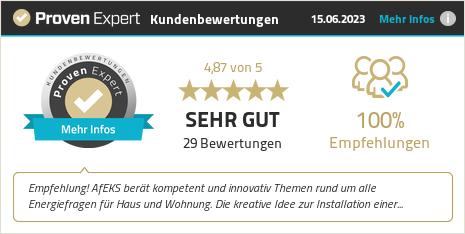 Erfahrungen & Bewertungen zu AfEKS - Agentur für Energiekostensenkung GmbH anzeigen