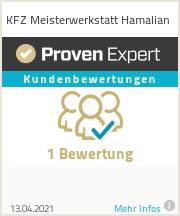 Erfahrungen & Bewertungen zu KFZ Meisterwerkstatt Hamalian