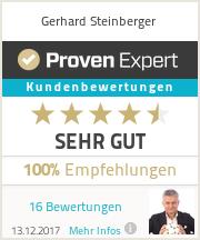 Erfahrungen & Bewertungen zu Gerhard Steinberger