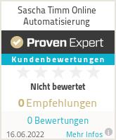 Erfahrungen & Bewertungen zu Sascha Timm Online Automatisierung