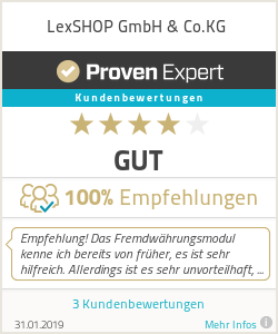 Erfahrungen & Bewertungen zu LexSHOP GmbH & Co.KG