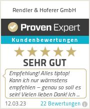 Erfahrungen & Bewertungen zu Rendler & Hoferer GmbH