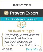 Erfahrungen & Bewertungen zu Frank Schramm