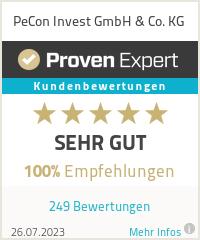 Erfahrungen & Bewertungen zu PeCon Invest GmbH & Co. KG