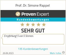 Erfahrungen & Bewertungen zu Prof. Dr. Simone Rappel