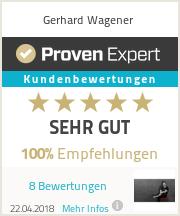 Erfahrungen & Bewertungen zu Gerhard Wagener