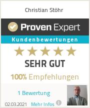 Erfahrungen & Bewertungen zu Christian Stöhr