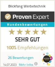 Erfahrungen & Bewertungen zu Blickfang Werbetechnik