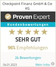Erfahrungen & Bewertungen zu Checkpoint Finanz GmbH & Cie KG