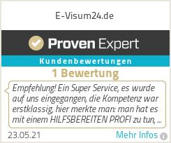 Erfahrungen & Bewertungen zu E-Visum24.de