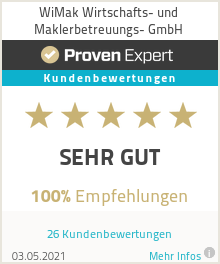 Erfahrungen & Bewertungen zu WiMak Wirtschafts- und Maklerbetreuungs- GmbH