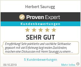 Erfahrungen & Bewertungen zu Herbert Saurugg