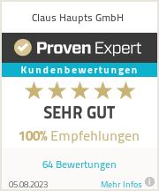 Erfahrungen & Bewertungen zu Claus Haupts GmbH