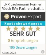 Erfahrungen & Bewertungen zu LFR Laukemann Former Rösch RAe Partnerschaft mbB